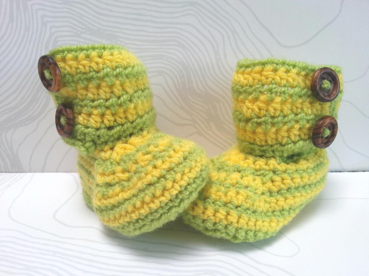 DIY – Gestreifte Baby-Booties – Sani Hachidori