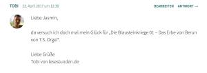 Gewinnerkommentar Blausteinkriege