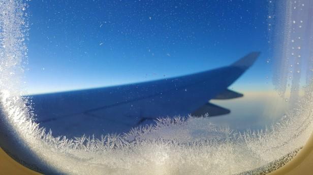 Eisblumen über den Wolken