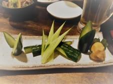 Ein paat vegetarische Häppchen auf Japanisch