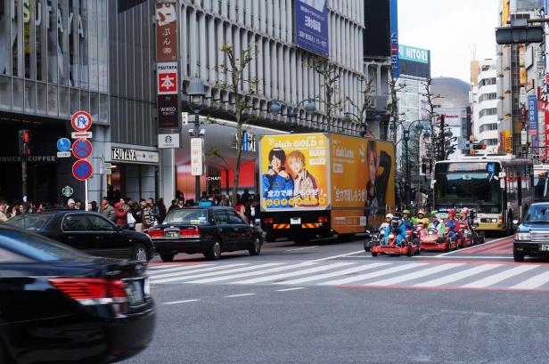 Die berühmten Mario-Kart-Fahrer