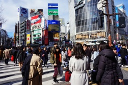 Die große Shibuya-Kreuzung