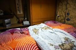 Unser Schlafzimmer mit den Futons