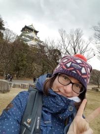 Ich und die Burg Osaka