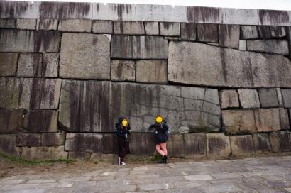 Riesige Schlossmauern