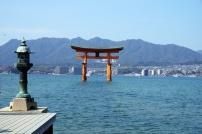 Das Weltkulturerbe - das berühmte Tori im Wasser